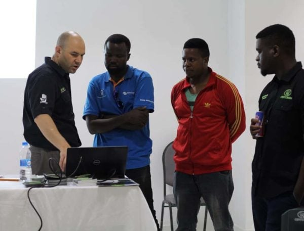 Participants getting detailed explanation during the Centurion training