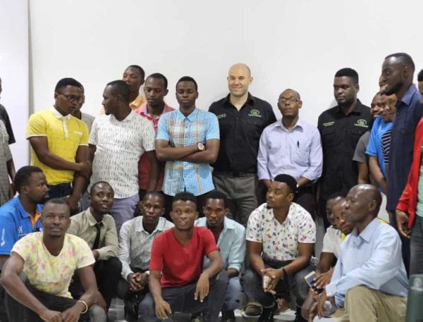 A picture of all participants of the Centurion products Training