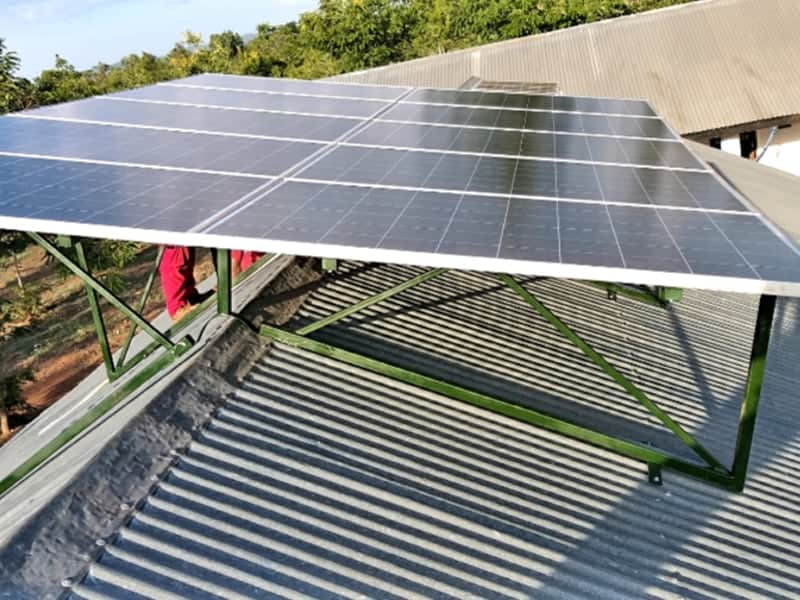 Fully installed solar panel at Illagala Health center