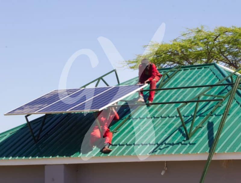Solar panel being installed by Gadgetronix experts