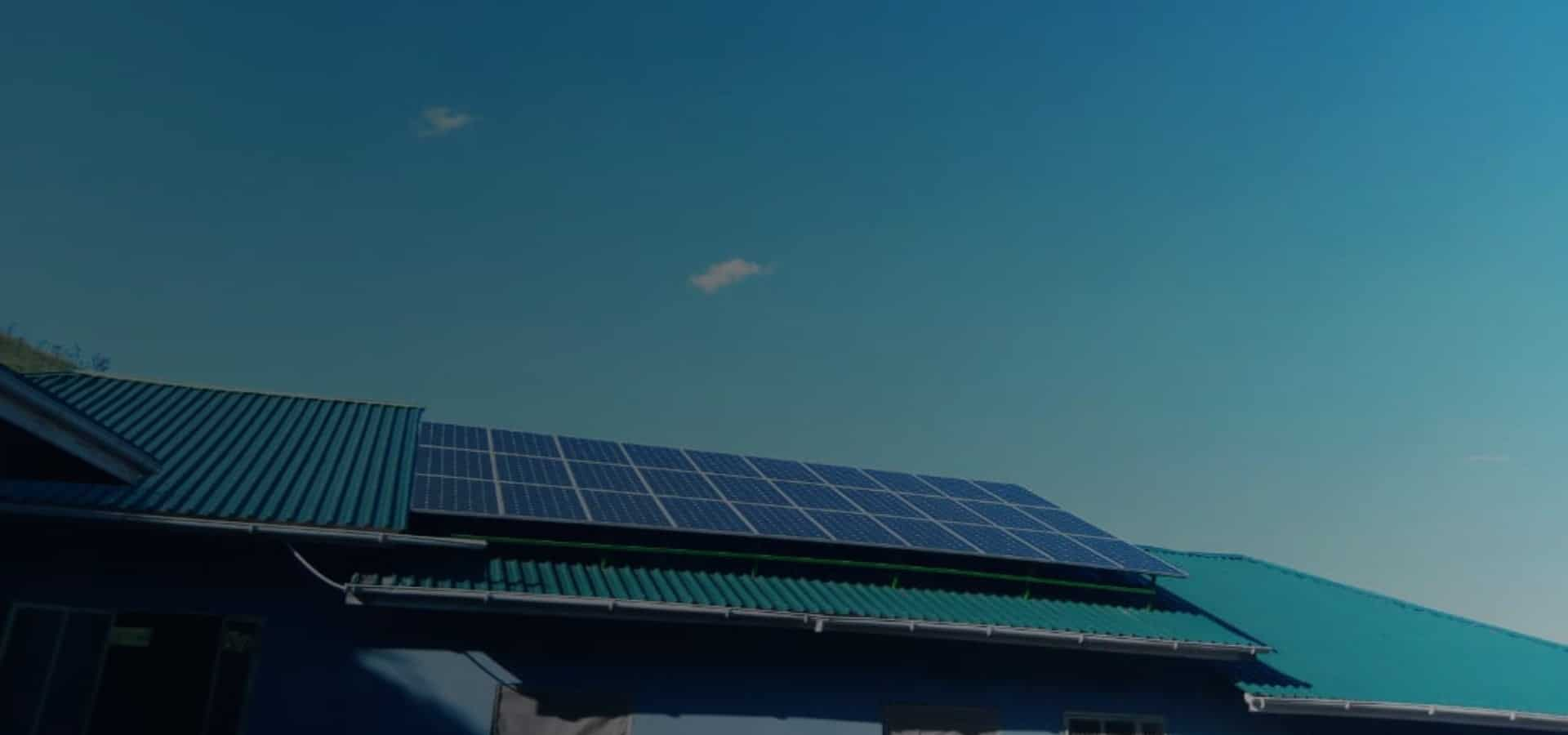 Solar panels at Makoma Hill installed by Gadgetronix