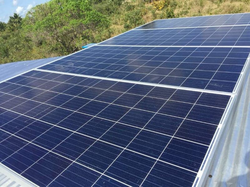 Solar panels installed for a client
