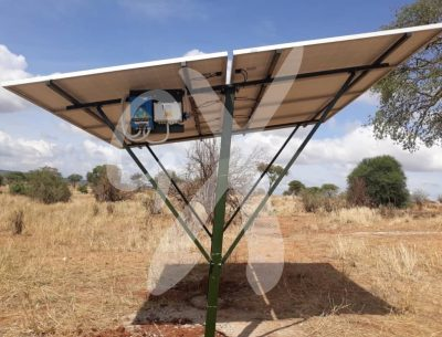 Solar panels as part of a solar system at Nasikia camp