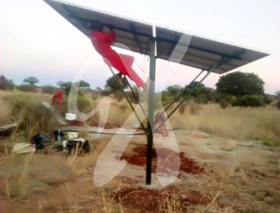 Solar panels being installed at Nasikia camps