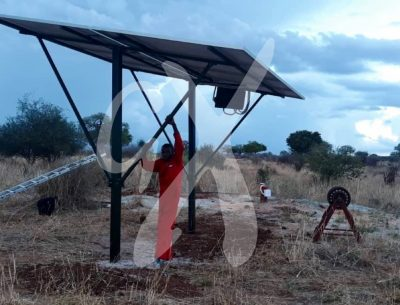 The installation of solar power system at Nasikia camps