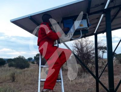 Installation of the solar power system at Nasikia camps