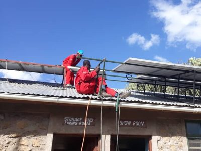 OIKOS EA solar system being installed by Gadgetronix experts