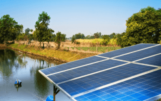 Solar panels as a part of a solar water pump system