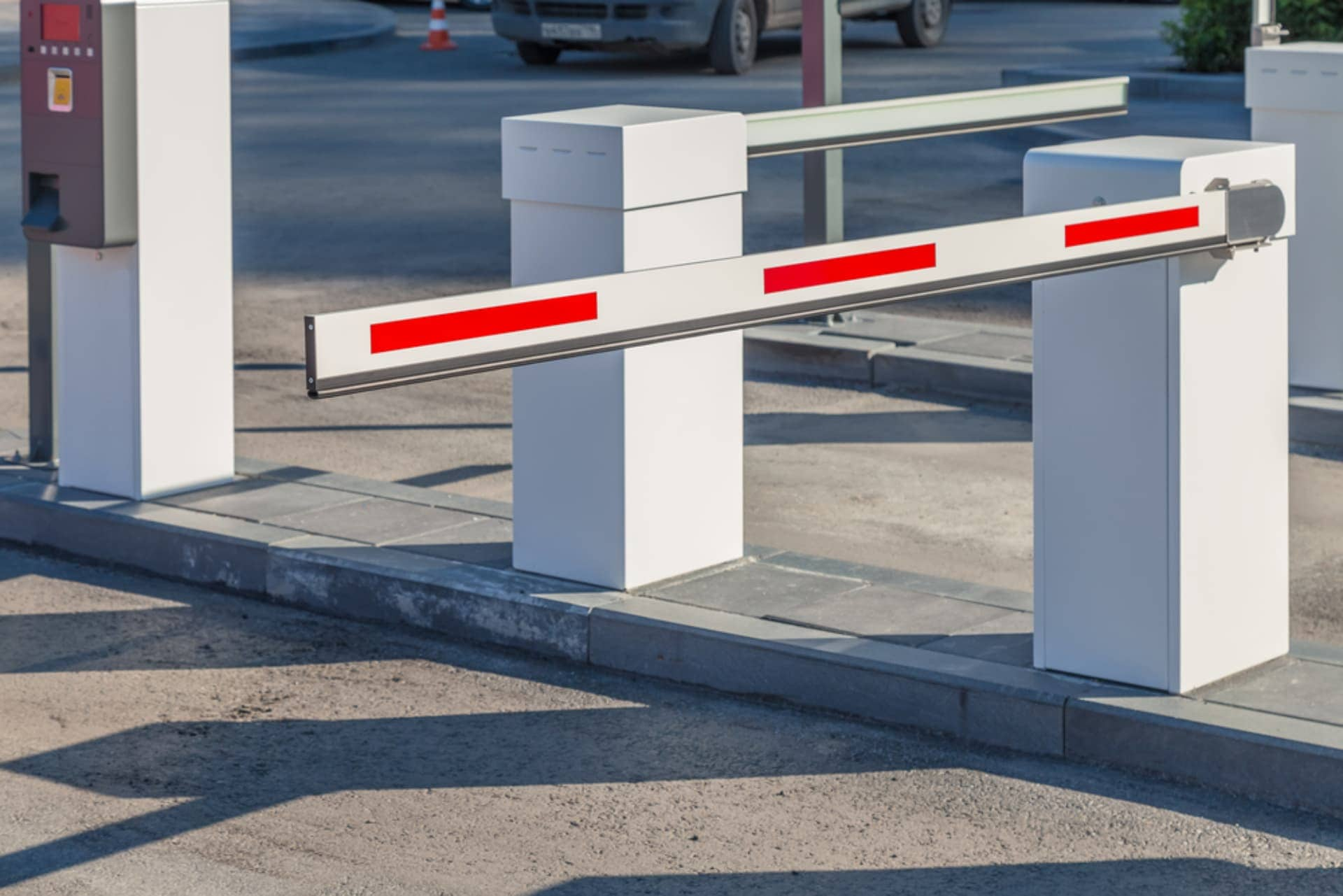 A barrier gate; a type of automatic gate